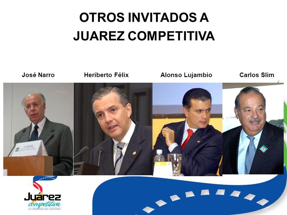 OTROS INVITADOS A JUAREZ COMPETITIVA José NarroHeriberto FélixAlonso LujambioCarlos Slim