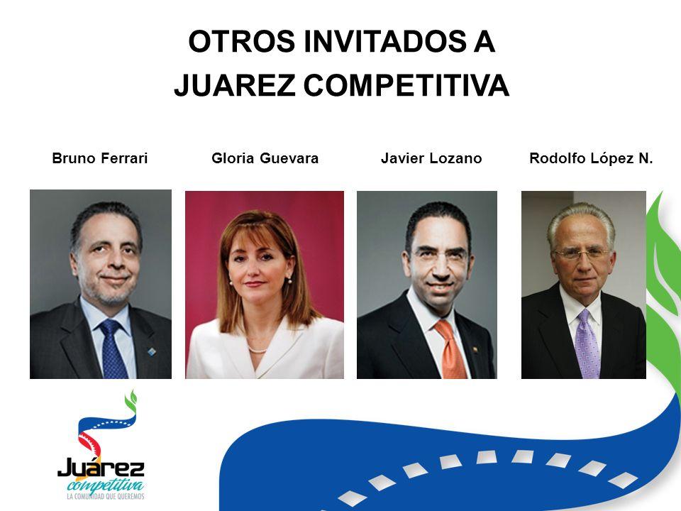 OTROS INVITADOS A JUAREZ COMPETITIVA Bruno FerrariGloria GuevaraJavier LozanoRodolfo López N.