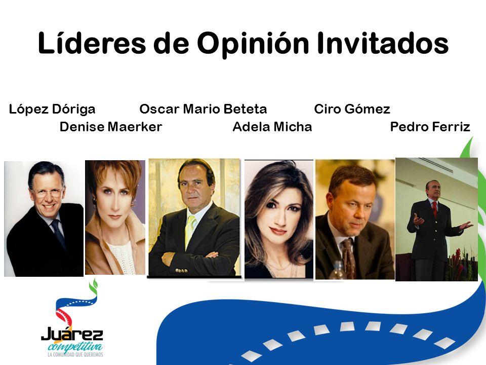 Líderes de Opinión Invitados López Dóriga Oscar Mario Beteta Ciro Gómez Denise Maerker Adela Micha Pedro Ferriz
