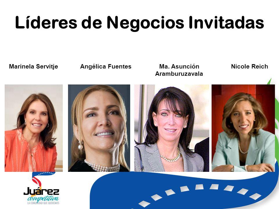 Líderes de Negocios Invitadas Marinela ServitjeAngélica FuentesMa.