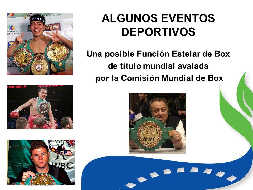 ALGUNOS EVENTOS DEPORTIVOS Una posible Función Estelar de Box de título mundial avalada por la Comisión Mundial de Box