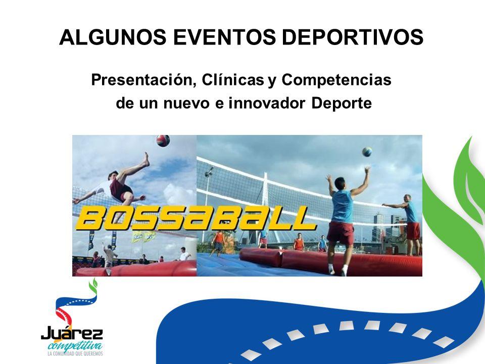 ALGUNOS EVENTOS DEPORTIVOS Presentación, Clínicas y Competencias de un nuevo e innovador Deporte