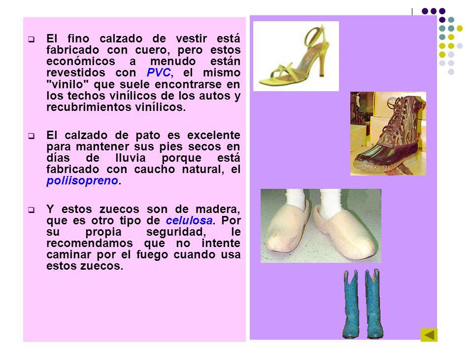 El fino calzado de vestir está fabricado con cuero, pero estos económicos a menudo están revestidos con PVC, el mismo