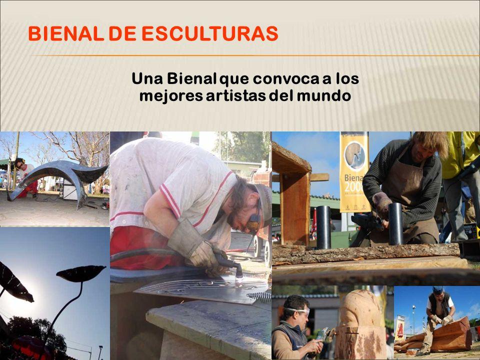 Una Bienal que convoca a los mejores artistas del mundo BIENAL DE ESCULTURAS