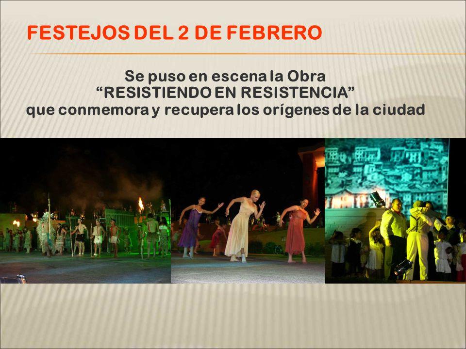 Y que cuenta con la participación de mas de 300 actores, colectividades y vecinos FESTEJOS DEL 2 DE FEBRERO