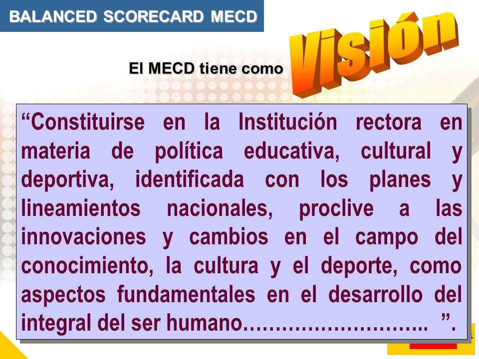 Constituirse en la Institución rectora en materia de política educativa, cultural y deportiva, identificada con los planes y lineamientos nacionales,