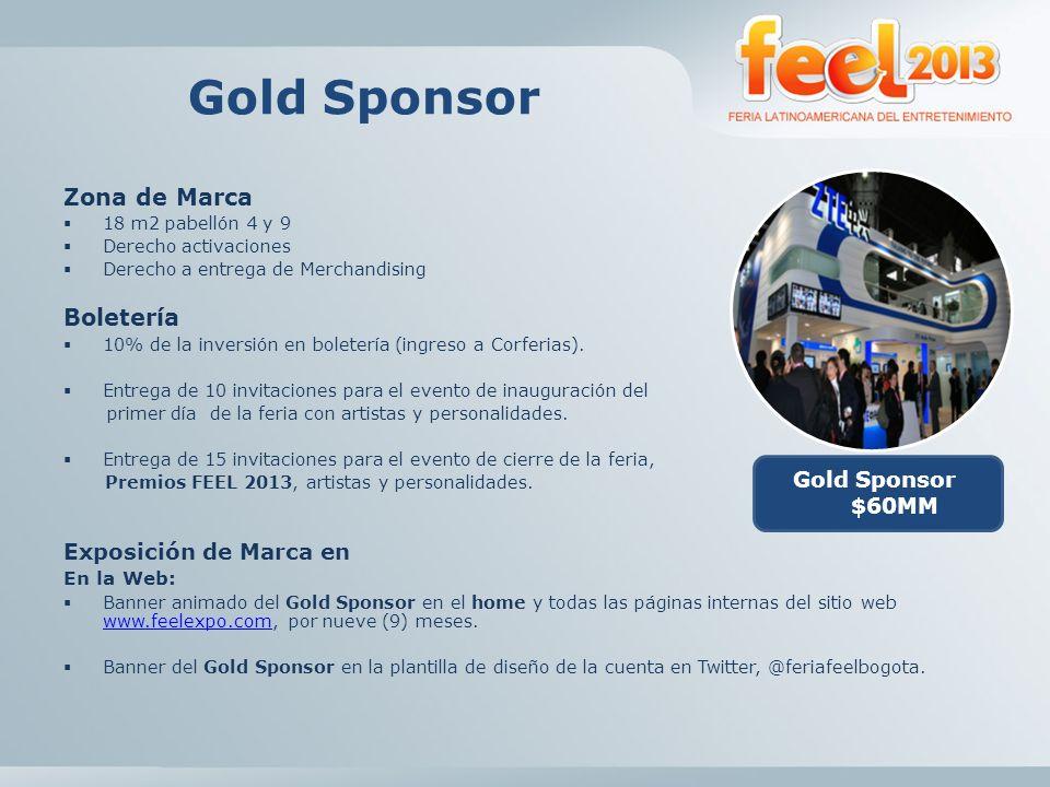 Gold Sponsor En Boletines: Logo del Gold Sponsor en diez (10) boletines periódicos, en formato HTML (con imagen) a enviar a una base de datos de 10.000 contactos de la industria del entretenimiento.
