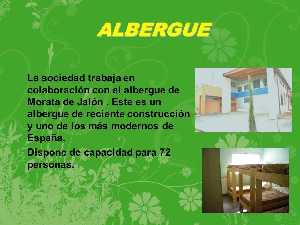 La sociedad trabaja en colaboración con el albergue de Morata de Jalón.