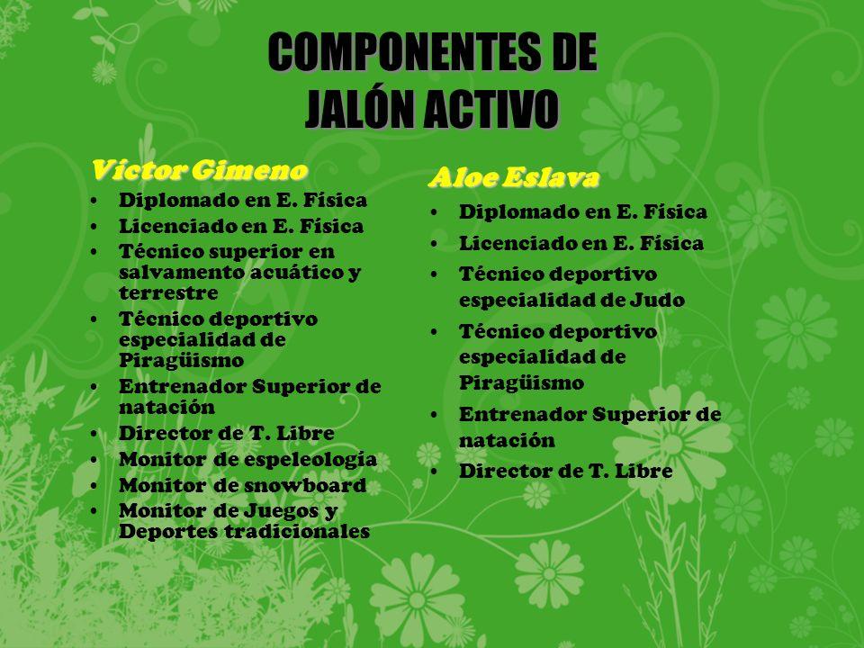 COMPONENTES DE JALÓN ACTIVO Víctor Gimeno Diplomado en E.