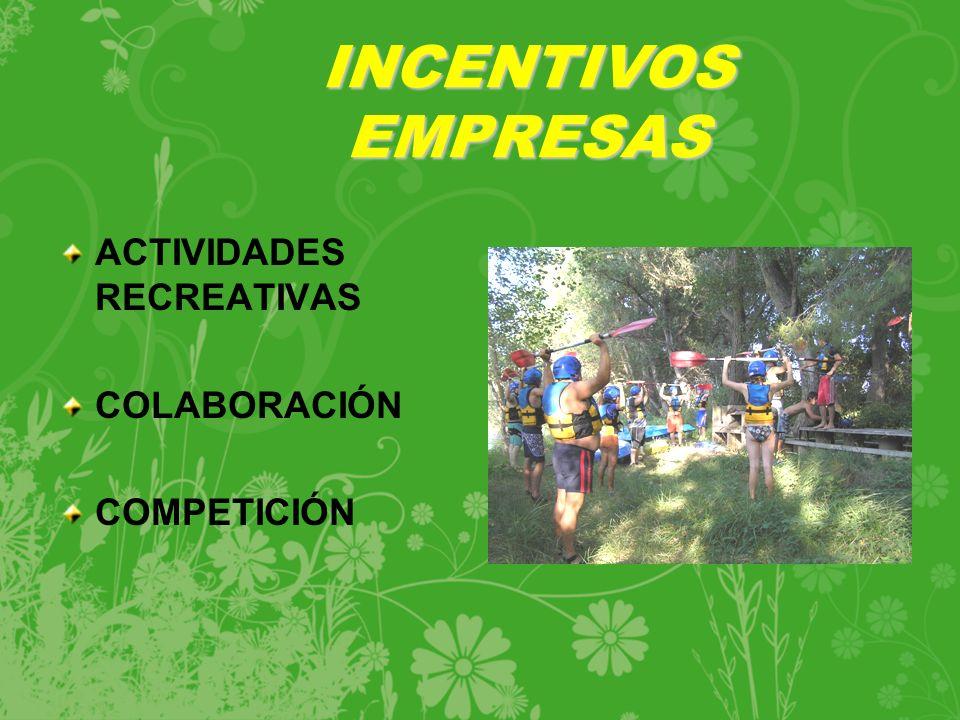 ACTIVIDADES RECREATIVAS COLABORACIÓN COMPETICIÓN INCENTIVOS EMPRESAS