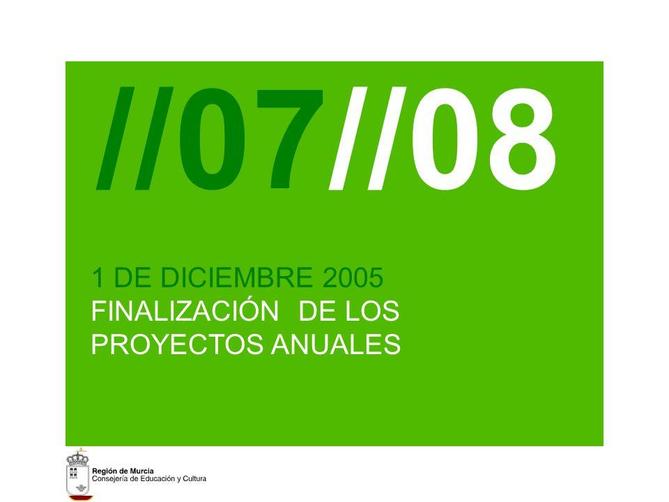 //07//08 1 DE DICIEMBRE 2005 FINALIZACIÓN DE LOS PROYECTOS ANUALES