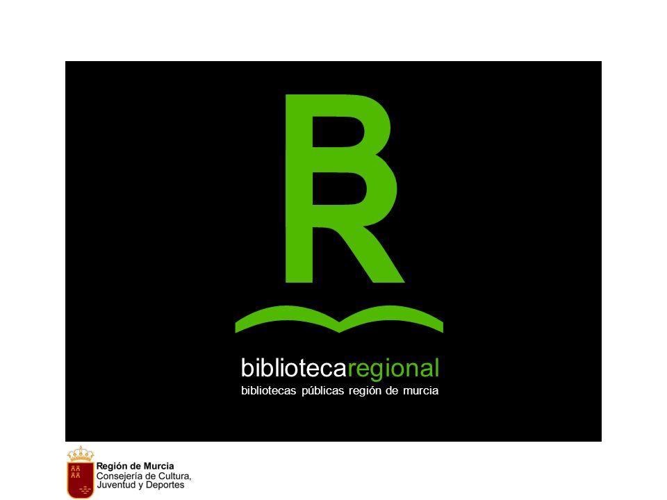 B R bibliotecaregional bibliotecas públicas región de murcia ) )
