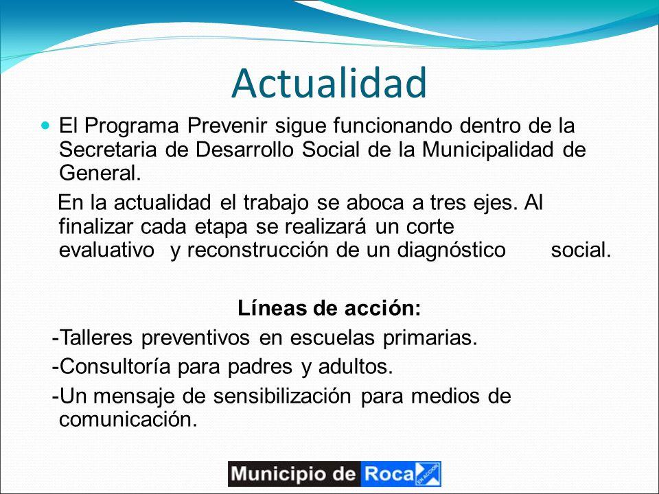 Actualidad El Programa Prevenir sigue funcionando dentro de la Secretaria de Desarrollo Social de la Municipalidad de General.