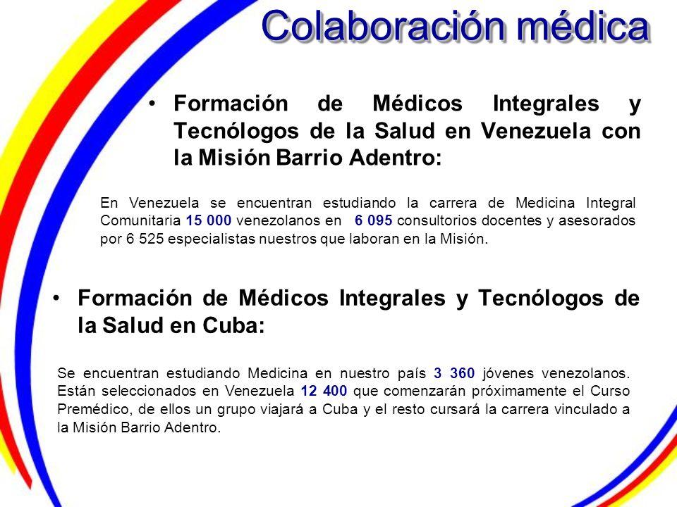 Formación de Médicos Integrales y Tecnólogos de la Salud en Venezuela con la Misión Barrio Adentro: Formación de Médicos Integrales y Tecnólogos de la