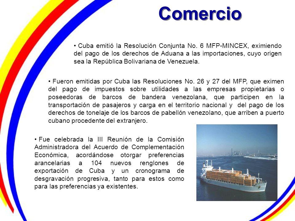 Comercio Cuba emitió la Resolución Conjunta No. 6 MFP-MINCEX, eximiendo del pago de los derechos de Aduana a las importaciones, cuyo origen sea la Rep
