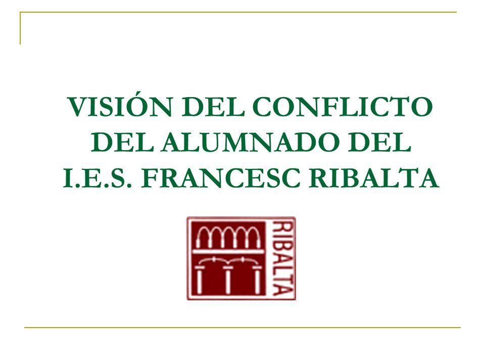 VISIÓN DEL CONFLICTO DEL ALUMNADO DEL I.E.S. FRANCESC RIBALTA