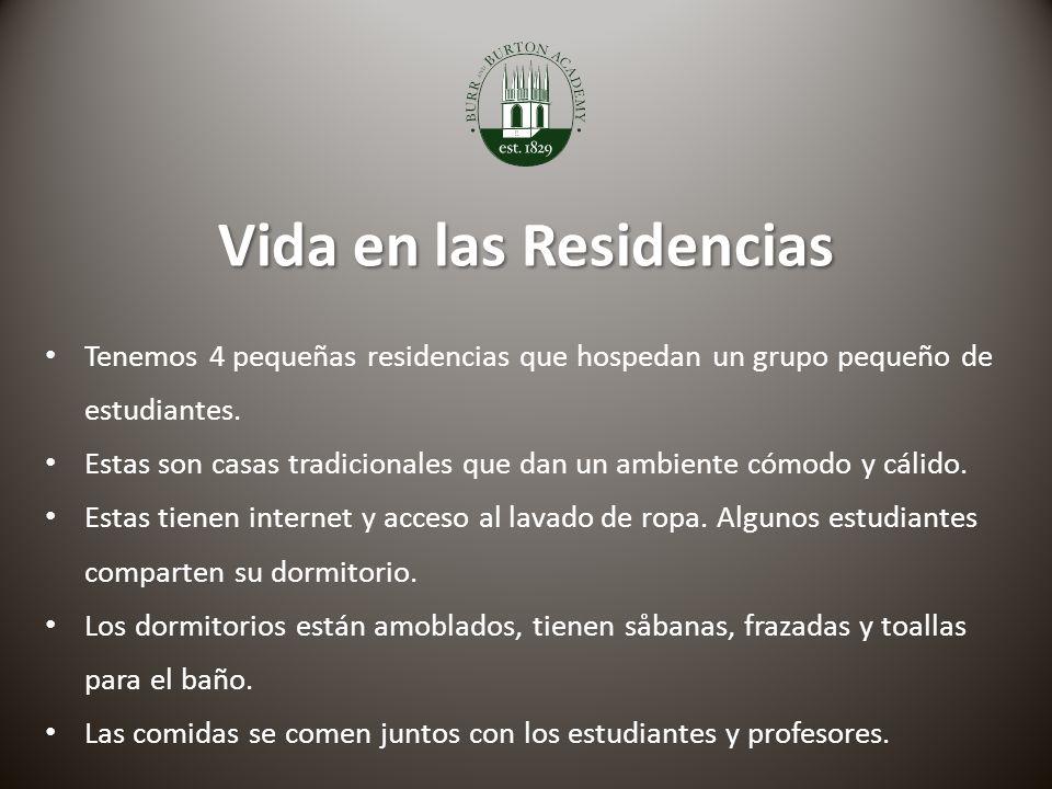 Vida en las Residencias Tenemos 4 pequeñas residencias que hospedan un grupo pequeño de estudiantes.