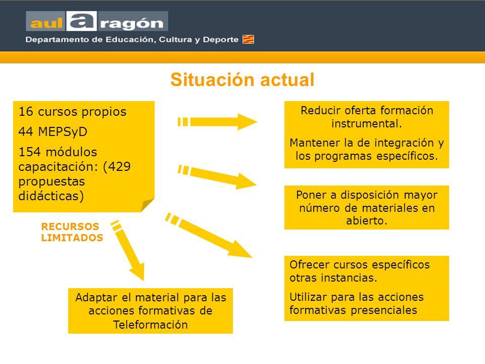 Equipos de producción 1 Servicios centrales Planificación de la formación general: presencial y en red.
