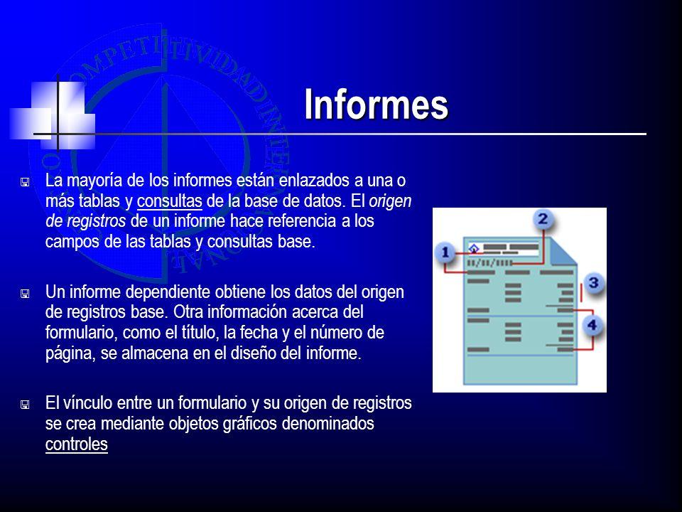 Informes Agrupación en informes La creación manual de un grupo consta de tres pasos 1.