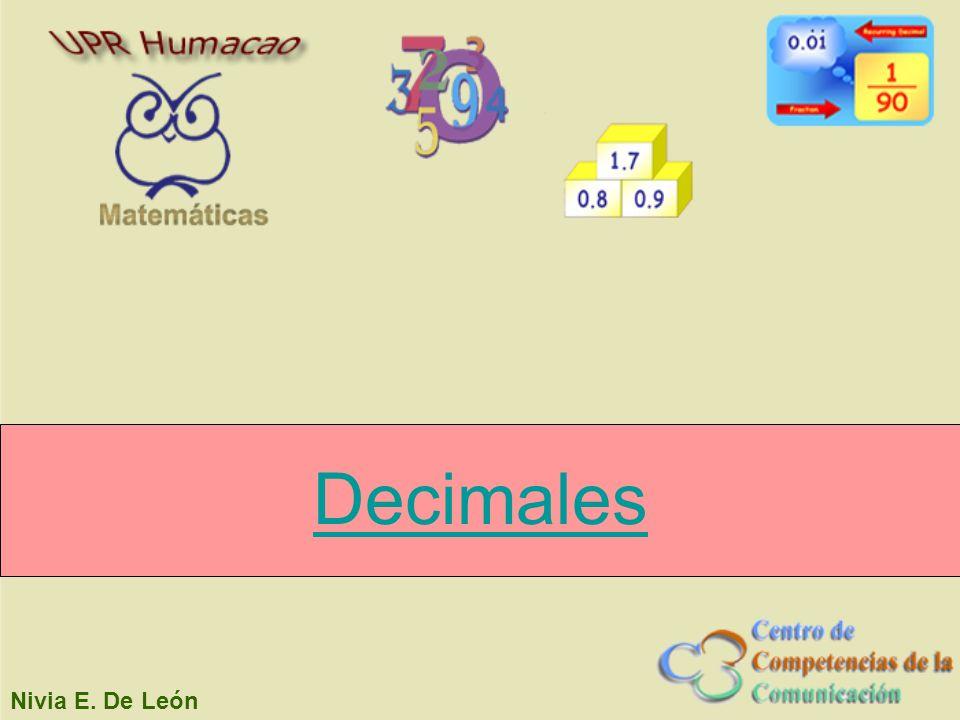 Nivia E. De León Decimales