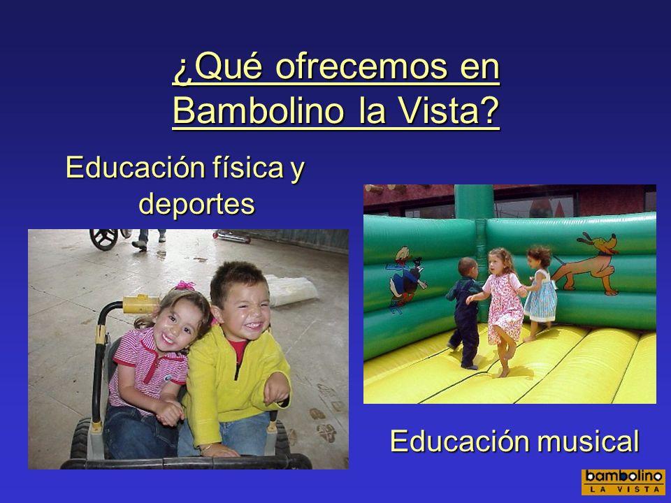 Psicomotricidad Programa Bambolino de estimulación temprana.