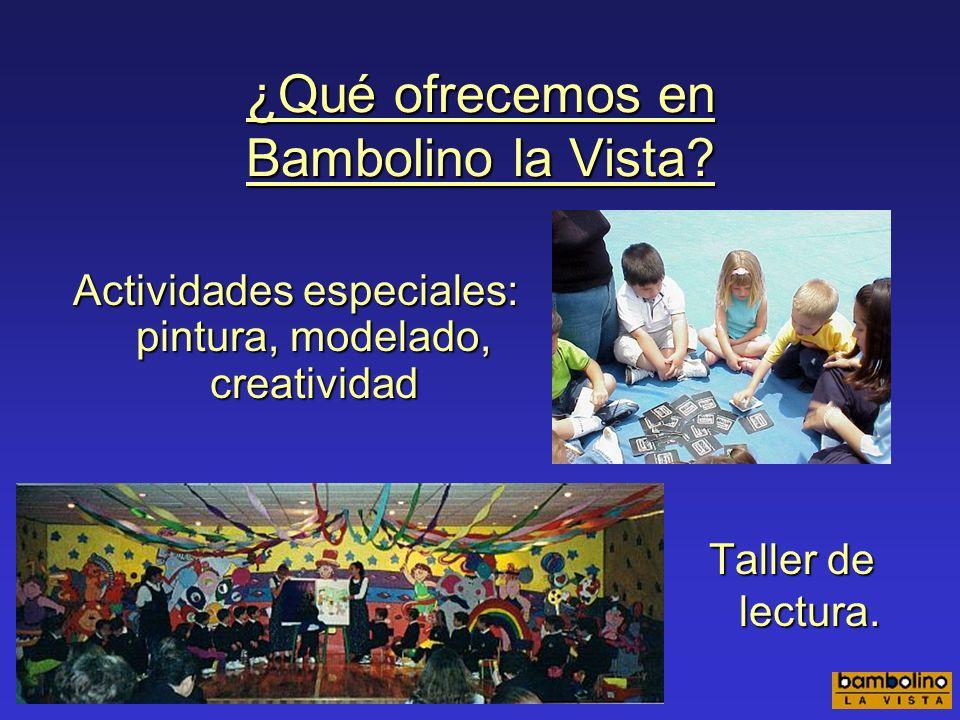 ¿Qué ofrecemos en Bambolino la Vista? Educación física y deportes Educación musical