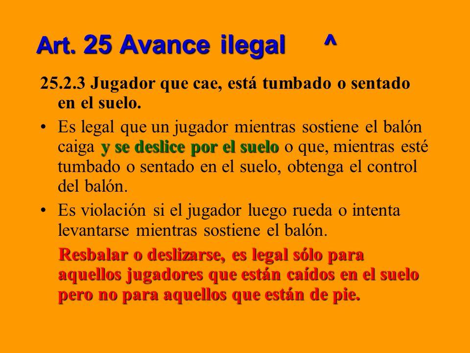 Art.25 Avance ilegal ¿Por qué este cambio.