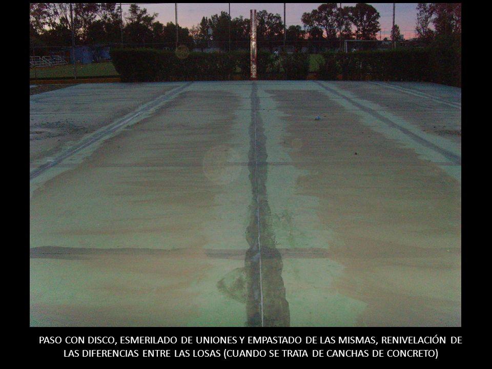 SELLADO DE LA SUPERFICIE EN PRIMER CAPA, ESMERILADO DE LAS UNIONES Y APLICACIÓN DE LA MEMBRANA DE 25 CM.
