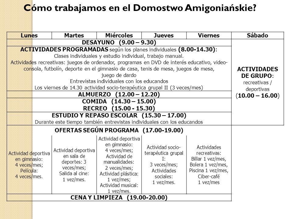 Cómo trabajamos en el Domostwo Amigoniańskie.