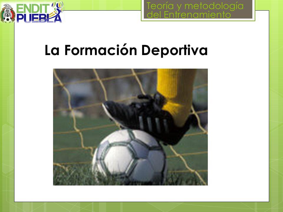 Teoría y metodología del Entrenamiento La Formación Deportiva