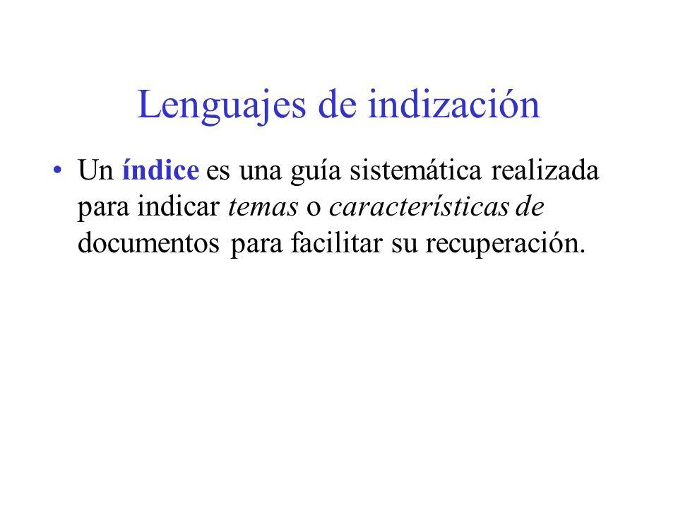 Descriptores sintagmáticos ¿Cuándo debe permitirse un descriptor formado por varias palabras.