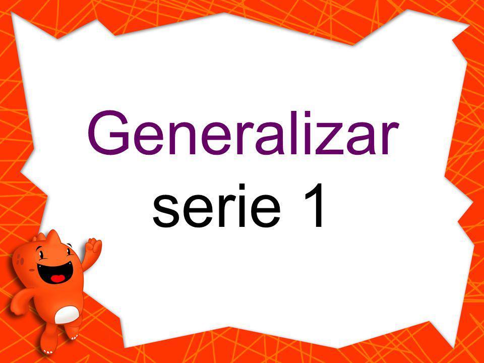 Generalizar serie 1