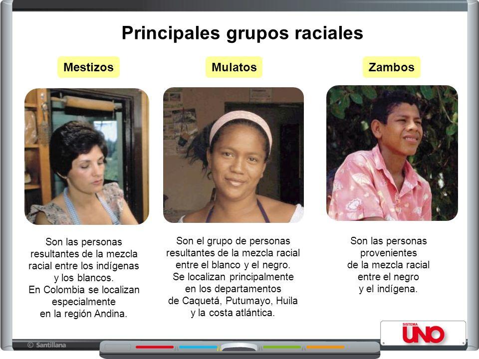 Son las personas resultantes de la mezcla racial entre los indígenas y los blancos.