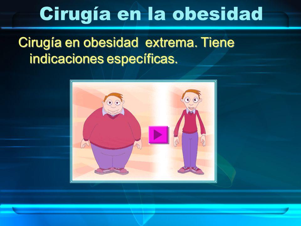 Cirugía en obesidad extrema. Tiene indicaciones específicas. Cirugía en la obesidad