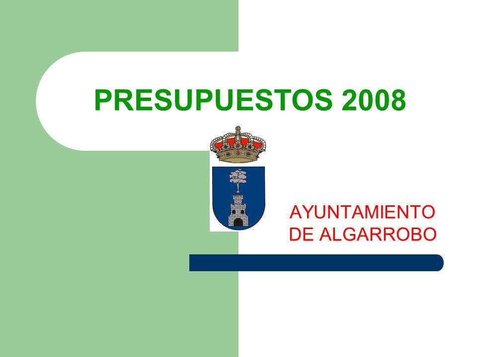 PRESUPUESTOS 2008 AYUNTAMIENTO DE ALGARROBO