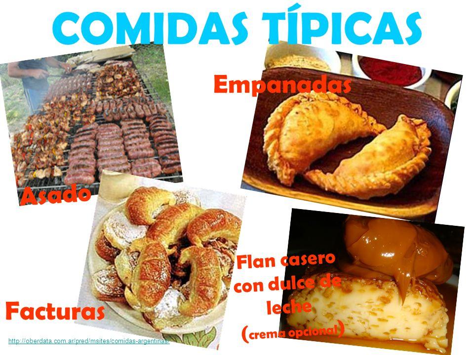 Asado Empanadas COMIDAS TÍPICAS Facturas http://oberdata.com.ar/pred/msites/comidas-argentinas/ Flan casero con dulce de leche ( crema opcional )