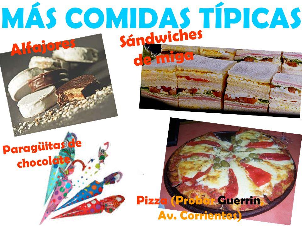 MÁS COMIDAS TÍPICAS Sándwiches de miga Pizza (Probar Guerrin, Av.