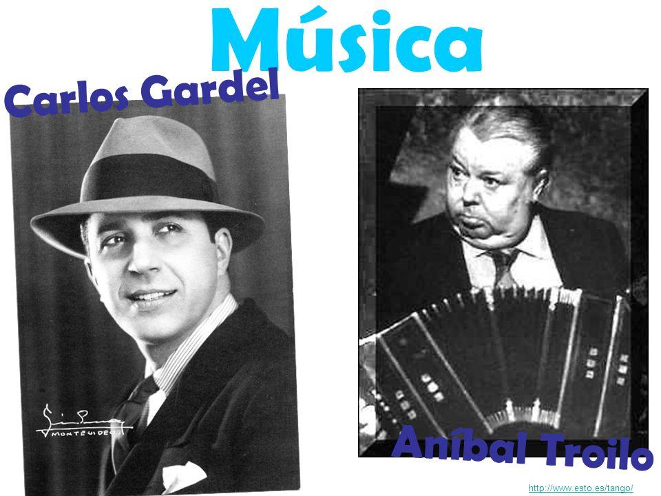 Música http://www.esto.es/tango/ Aníbal Troilo Carlos Gardel