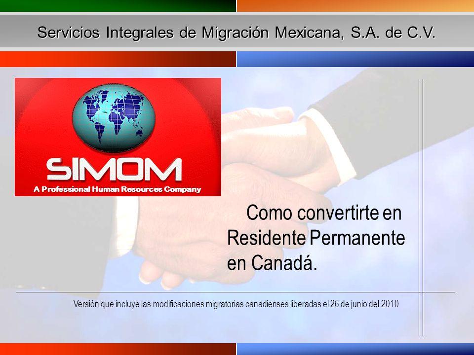 Qué significa ser Residente Permanente (RP).¿Porqué la necesidad de gente en Canadá.