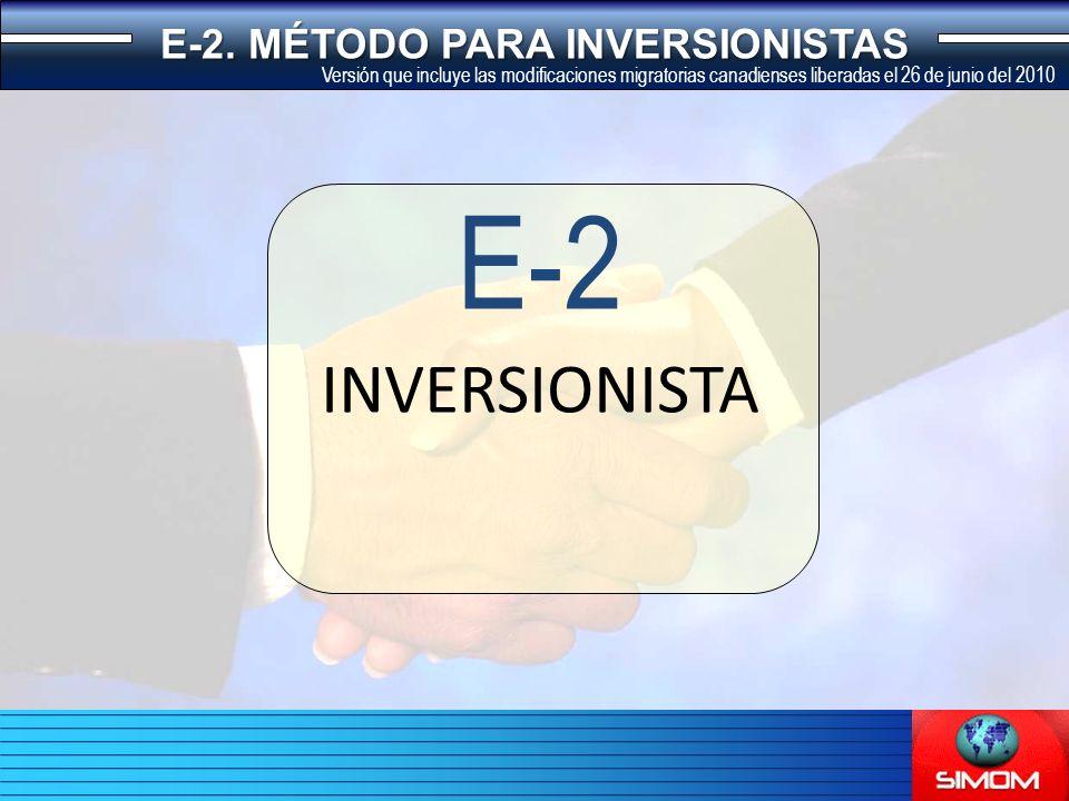 INVERSIONISTA E-2 E-2.