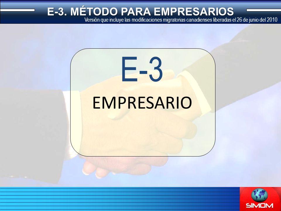 EMPRESARIO E-3 E-3.