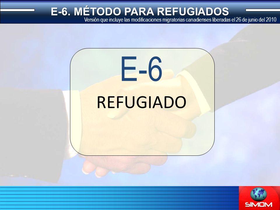 REFUGIADO E-6 E-6.