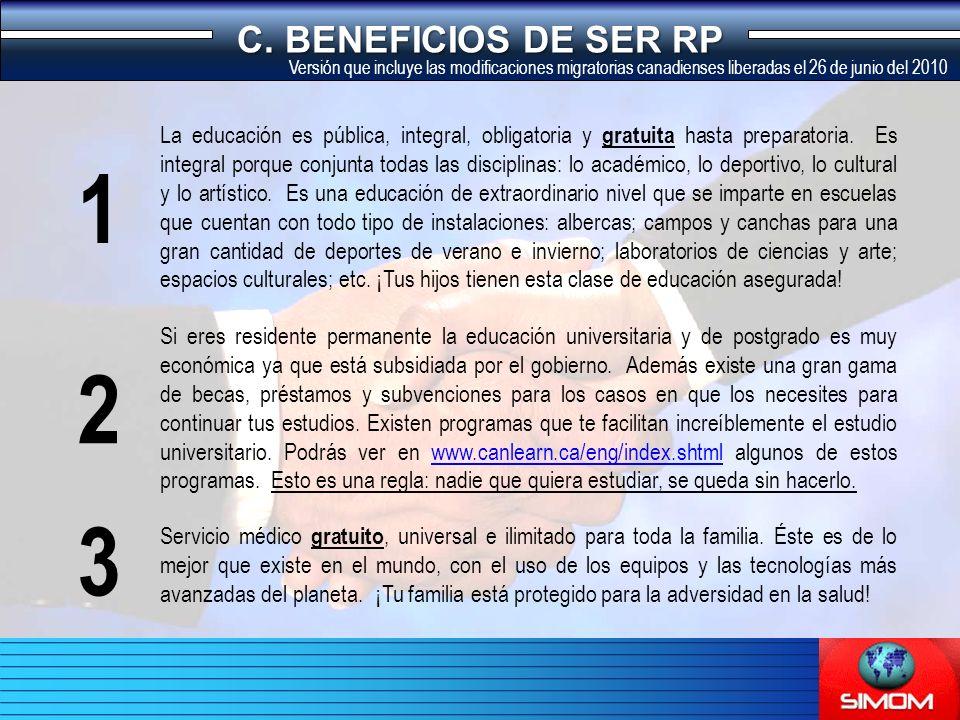 C.BENEFICIOS DE SER RP Fondo de pensiones inmejorable.