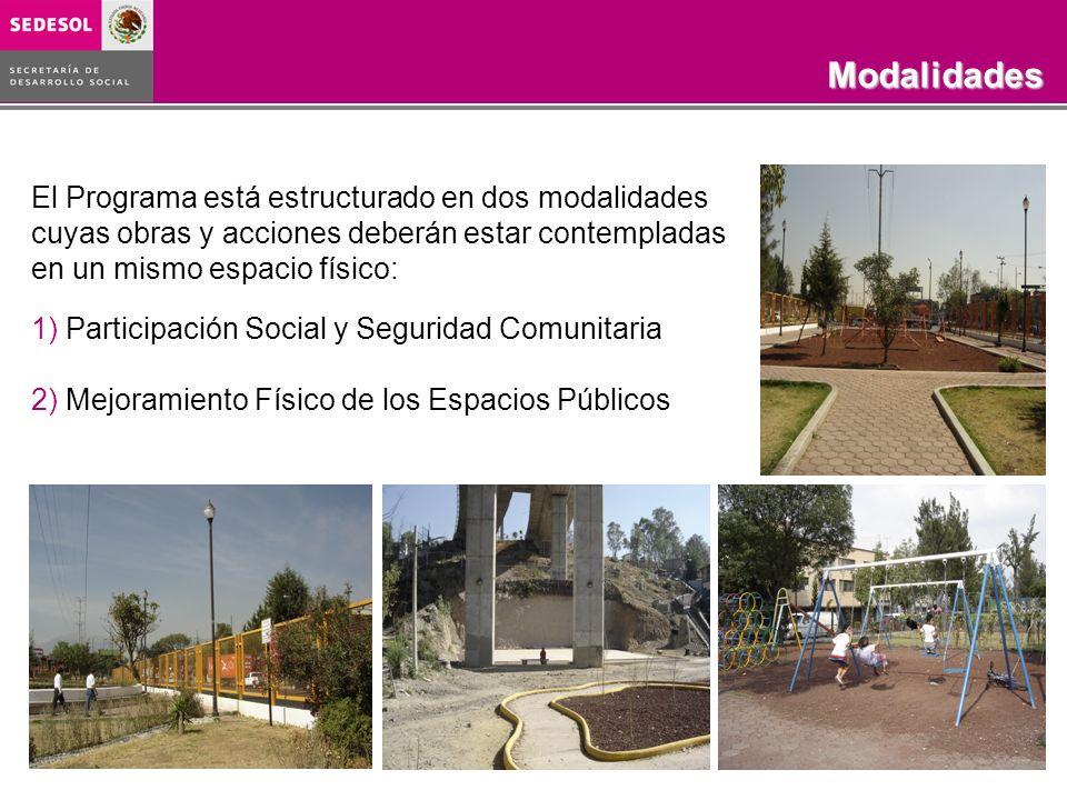 Programa Rescate de Espacios PúblicosObjetivo COBERTURA 2003-2006 El Programa está estructurado en dos modalidades cuyas obras y acciones deberán esta