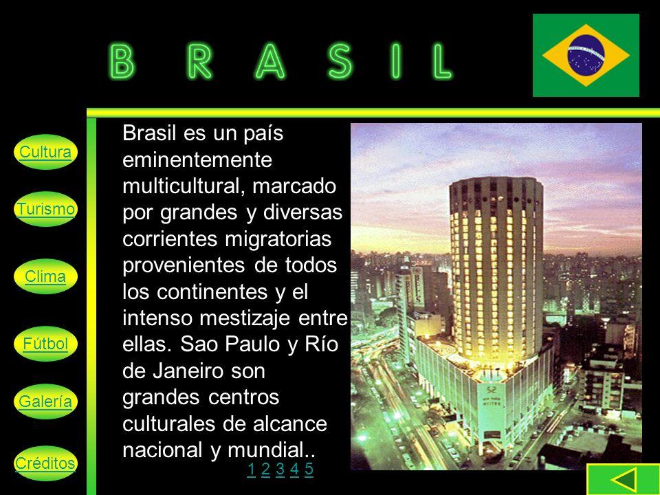 Brasil es un país eminentemente multicultural, marcado por grandes y diversas corrientes migratorias provenientes de todos los continentes y el intenso mestizaje entre ellas.