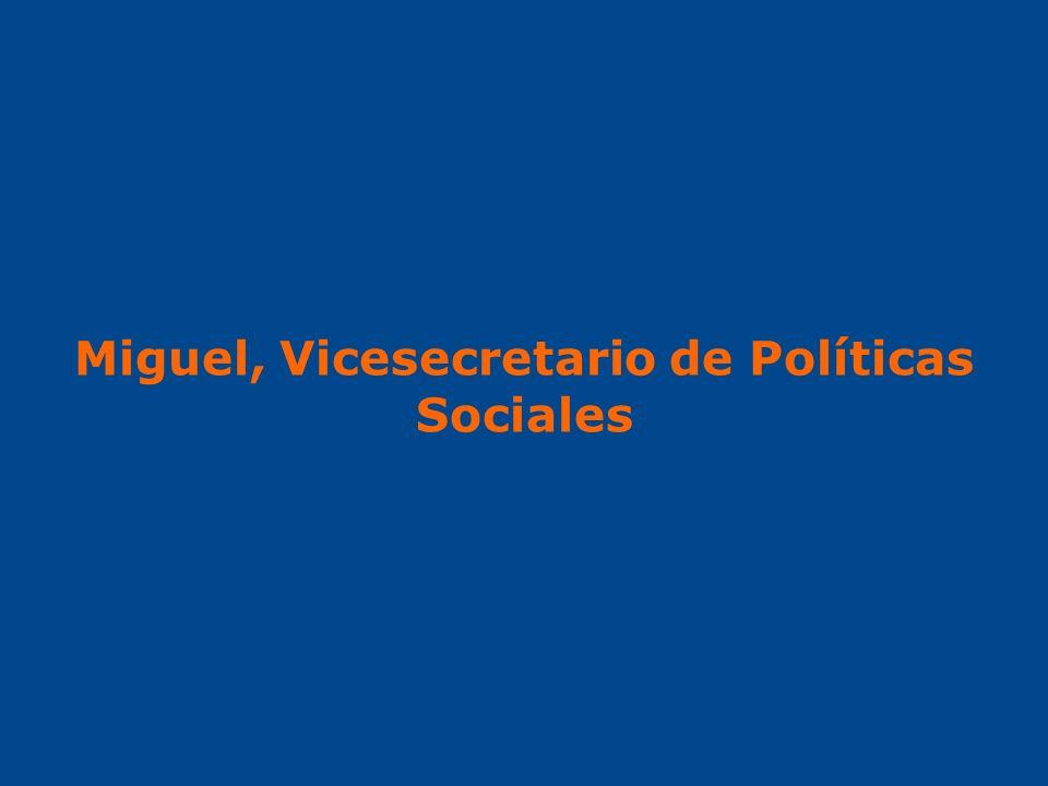 Miguel, Vicesecretario de Políticas Sociales