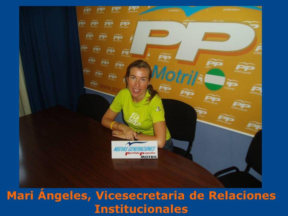 Mari Ángeles, Vicesecretaria de Relaciones Institucionales