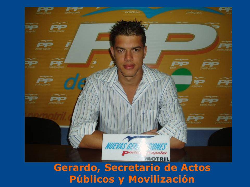 Gerardo, Secretario de Actos Públicos y Movilización
