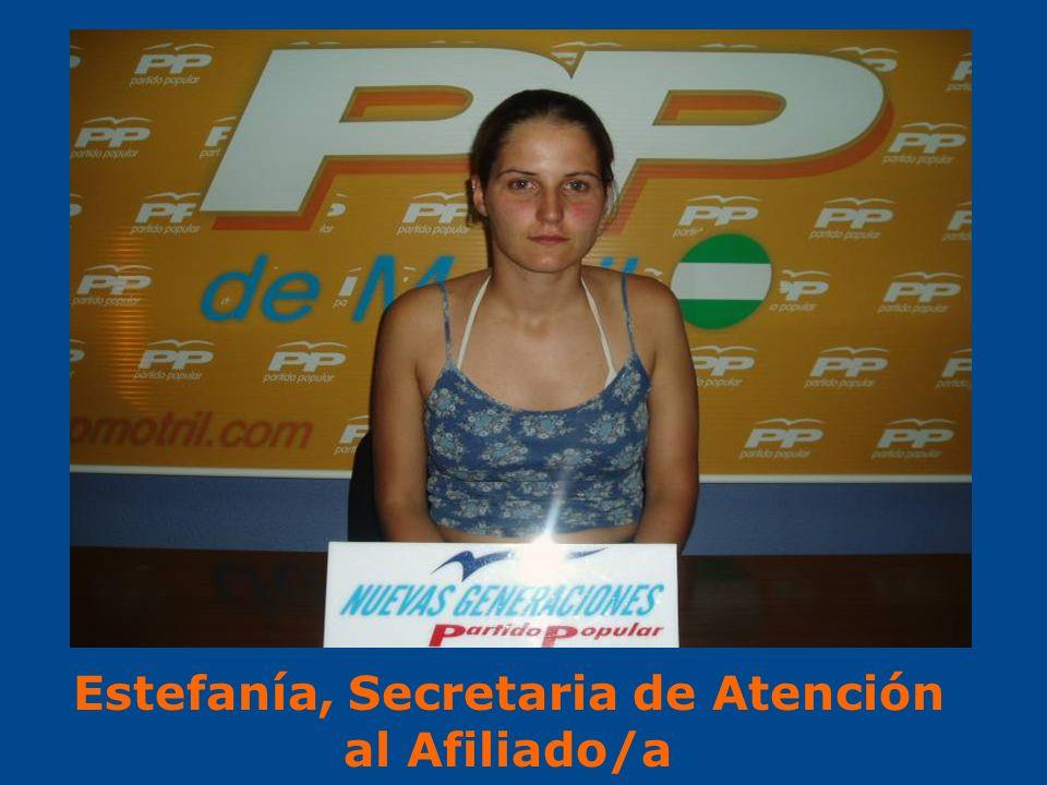 Estefanía, Secretaria de Atención al Afiliado/a