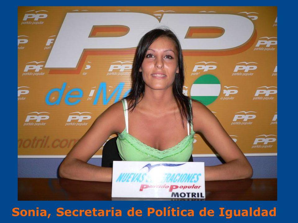 Sonia, Secretaria de Política de Igualdad